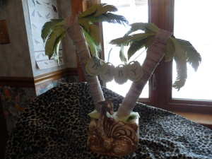 Giraffe Planter Shawnee USA as Baby Shower Centerpiece