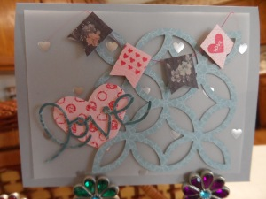 Love lattice and banners for Valentine's Day cards. Stampin Up products