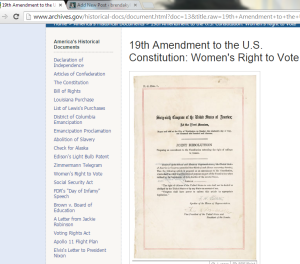 19th Amendement Women's Right To Vote